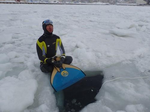 氷上で集中を高める篠宮選手