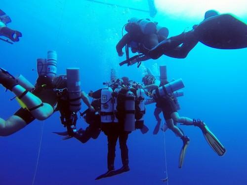 ダイビング潜水深度ギネス記録達成