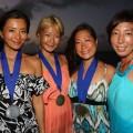 左から、福田朋夏選手、廣瀬花子選手、木下紗佑里選手、岡本美鈴選手
