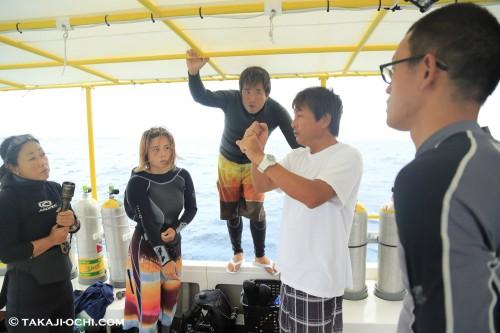 船上では、撮影してもらえる環境を、どうやって作るかという打ち合わせが入念に行われた