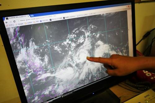 パラオの北東で台風1号が発生した