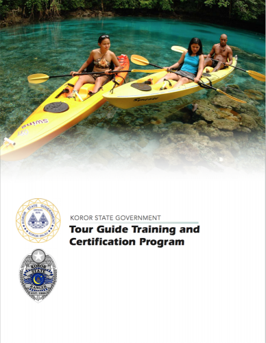 KOROR STATE GOVERNMENT TOUR GUIDETRAINING AND CERTIFICATOIN PROGRAM パラオのガイド