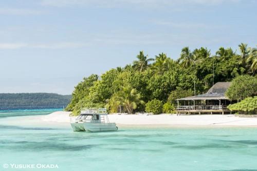 世界で一番行きたいビーチリゾートに選ばれたこともある、モウヌ島。2年前のテレビロケでも滞在した