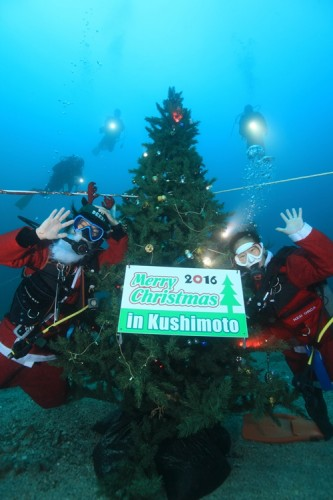 串本水中クリスマスツリー
