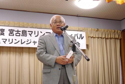 宮古島市長の下地敏彦氏