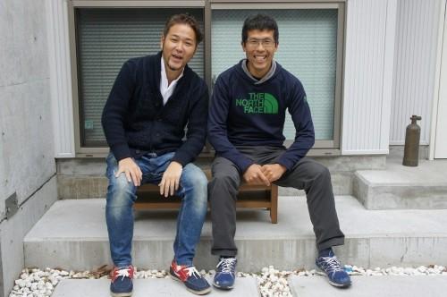 PSD代表の寺山英樹(左)と山のスペシャリスト・田中正人氏