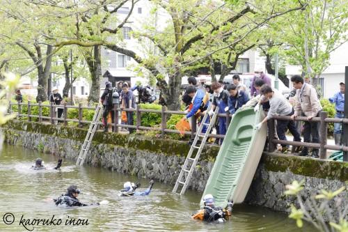 小田原お堀清掃2016