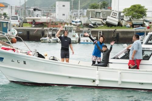 このロケ初めてのボートダイビング!