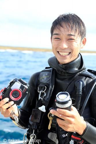 TG4でのBWD撮影の楽しみかたを教えてくれるのは、ガイドの吉田健太朗さん