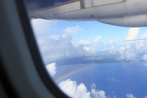 お見送りしてくれた虹たち。本当に本当にありがとう!