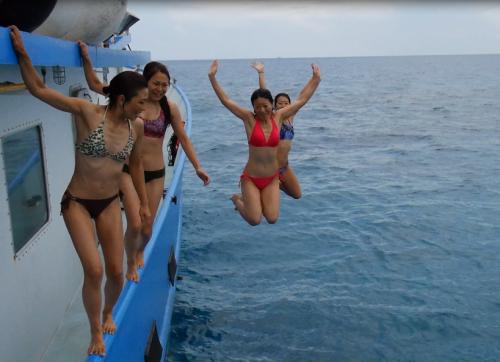船から飛ぼうと飛んだことがきっかけで、上手に飛べていないのがバレる