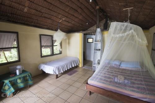 Lodges。部屋にトイレとシャワーがある