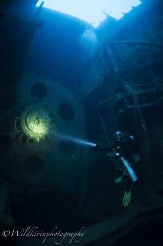 水深は深めだが、通い続けるゲストは必ず来るというエンジンルーム