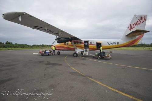 タンナ島まではバヌアツ航空のセスナ機で移動
