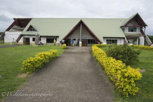 2015年に大きな被害をもたらしたサイクロンの影響が少し残る、タンナ島の空港