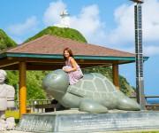 """次の記事: 最終日は奄美大島最北端の""""夢をかなえる「カメ」さん""""に触って"""
