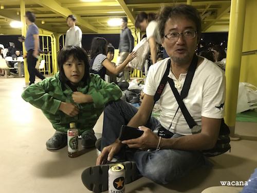 越智カメラマンの息子さんも、今回が初・御蔵島であるその一人。