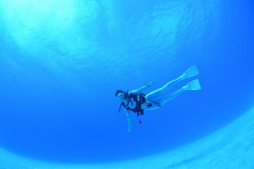 常に透明度が40mはあると言われるロタの海。白砂も美しい。 撮影/むらいさち
