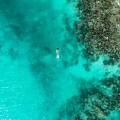 まるで空に浮いているみたい! 透明度がすばらしいタガビーチ