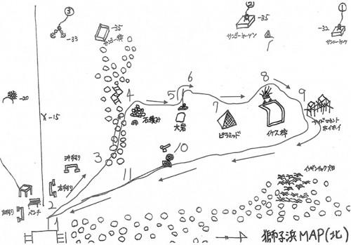 獅子浜のマップ