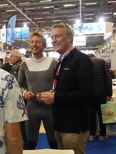 パリの国際ダイビングショーに出展しているカリプス。日本での出展は初
