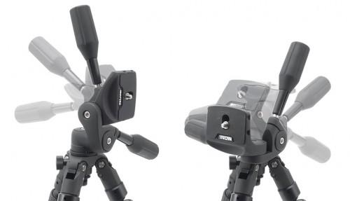 大型のハンドルを備え、軽快・精密にカメラの位置調整を可能にします。