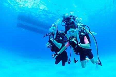 兄弟そろって初めてのダイビング