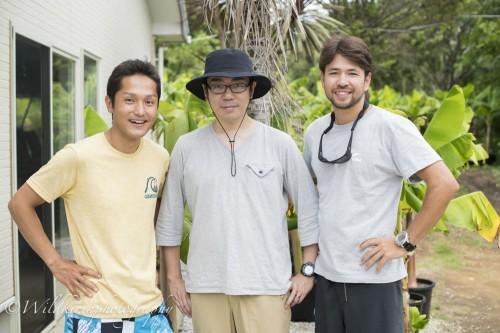 左から、アラベスクの小金沢さん、Linneの杉本さん、自然写真家のキリンさん
