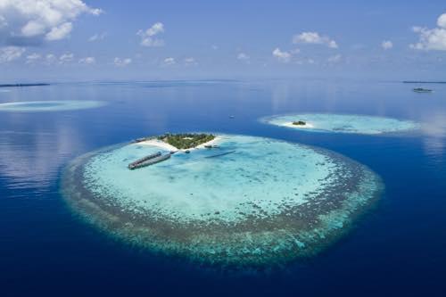 モルディブは、26もの環礁から作られている