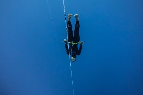 フリーダイビングを初めてわずか3年で世界新記録樹立(写真提供:Alex St. Jean)