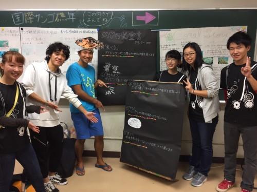 東京海洋大学の学園祭でダイバー版MY行動宣言の普及活動。さかな芸人ハットリさんも宣言してくれました!