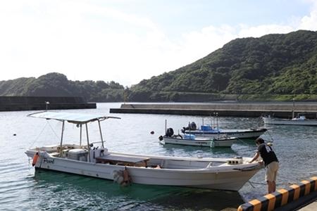 南薩摩での自社ボート、パール号