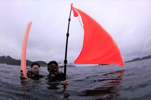 シーサーでは万が一に備えて、セーフティーグッズをガイドがたくさん常備して海に入ります。こういう安全対策も信頼できるポイントですね!