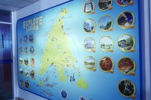 ラブアン島のマップ