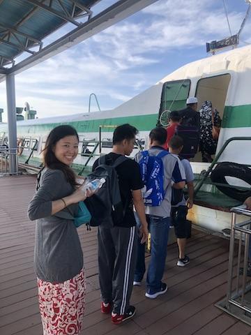 フェリー乗り場。ラブアン島もマレーシアなのでパスポートを忘れずに!