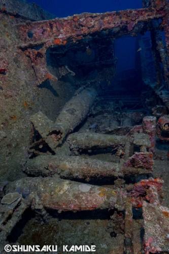 艦船を攻撃するための魚雷や、対潜水艦用の爆雷もそのままの姿で残っている