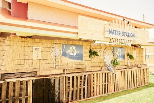 自由に水分補給ができるウォーターステーション