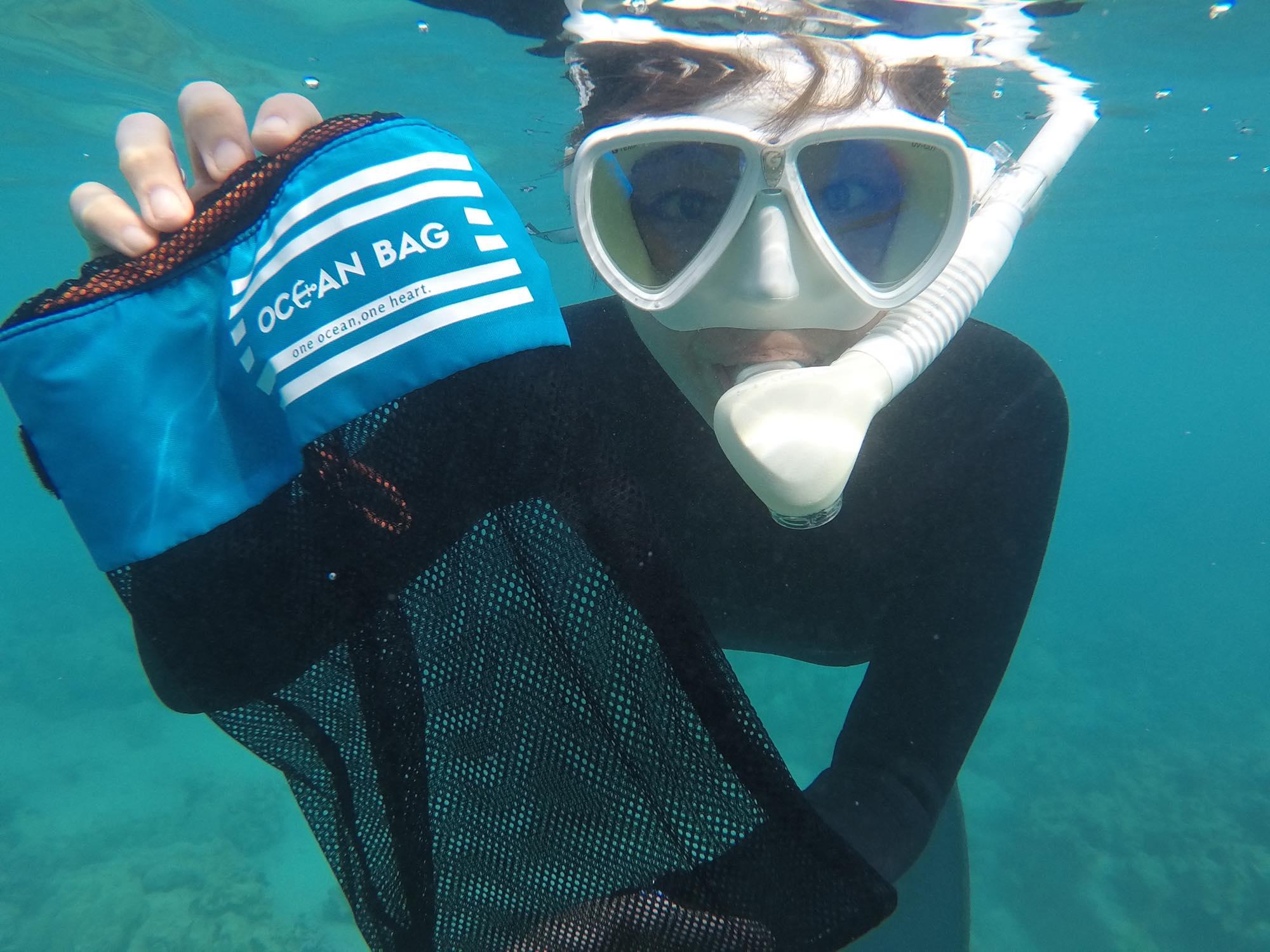 オーシャンバッグでハワイ島の海のゴミ拾い!