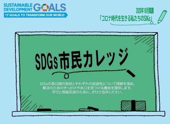 海洋プラスティック問題に関する講座も  「コロナ時代を生きる私たちのSDGs」開催