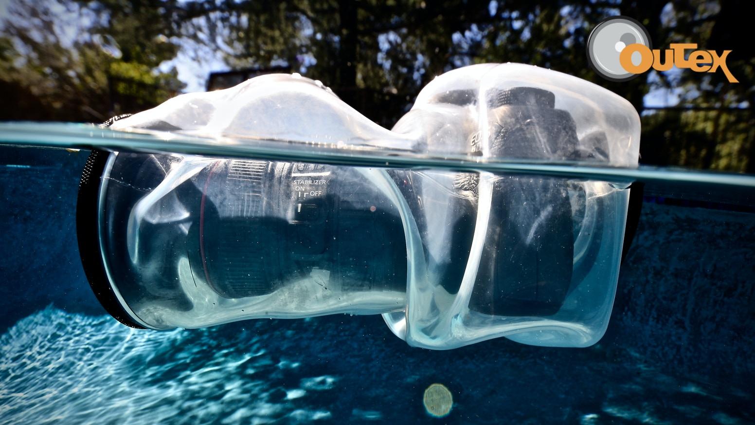 全機種対応!? 愛用の一眼カメラが完全防水になるシリコン製保護カバー「Outex」が先行予約販売中