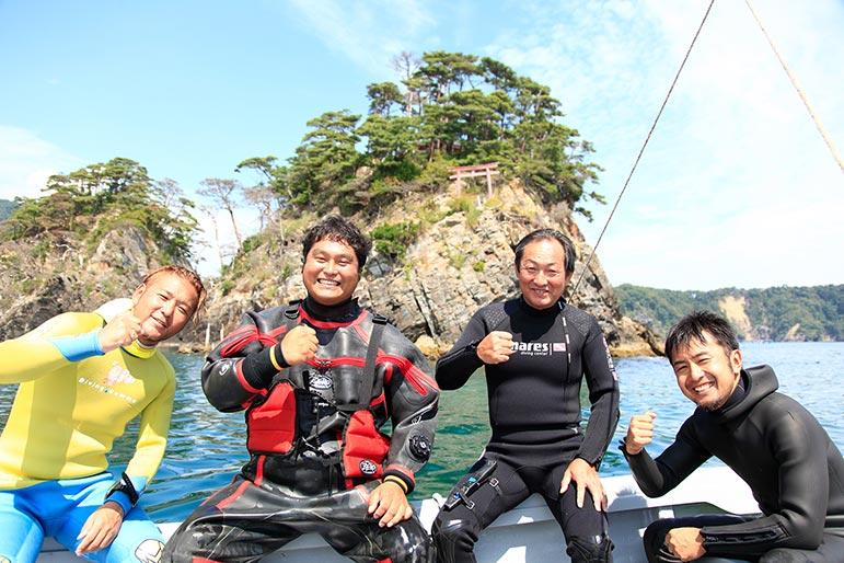 女川・竹浦のポイントオープンに向けて調査ダイビング