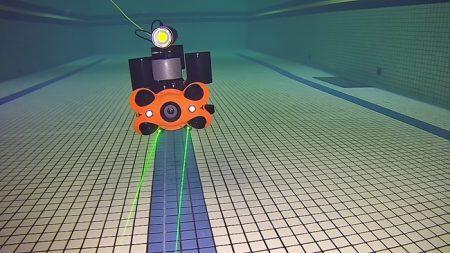 レーザースケーラー+LEDダイビングビデオライト+700whリチウムバッテリー(浮力材含む)