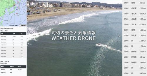 湘南の海の風情報に特化した気象サイト「WEATHER DRONE」
