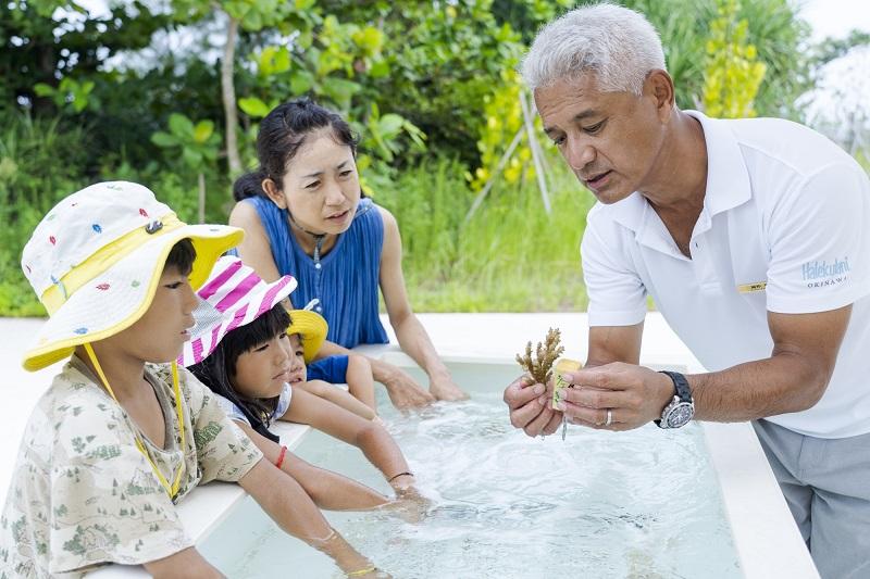 恩納村のリゾートホテル、ハレクラニ沖縄がサンゴ育成プログラムを開始!