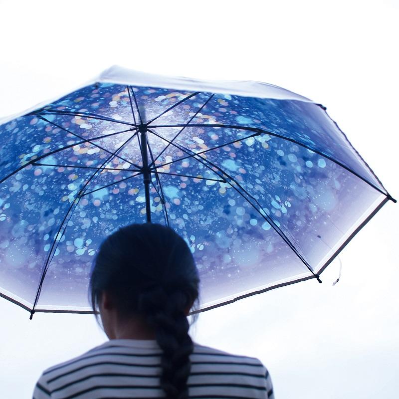 ヴィレヴァンアクアリウム【星降る傘】ハッピークリアアンブレラ イルミネーション