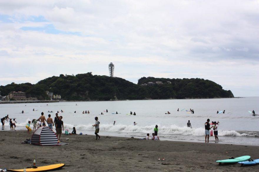 (2021年6月20日の江ノ島周辺の様子)