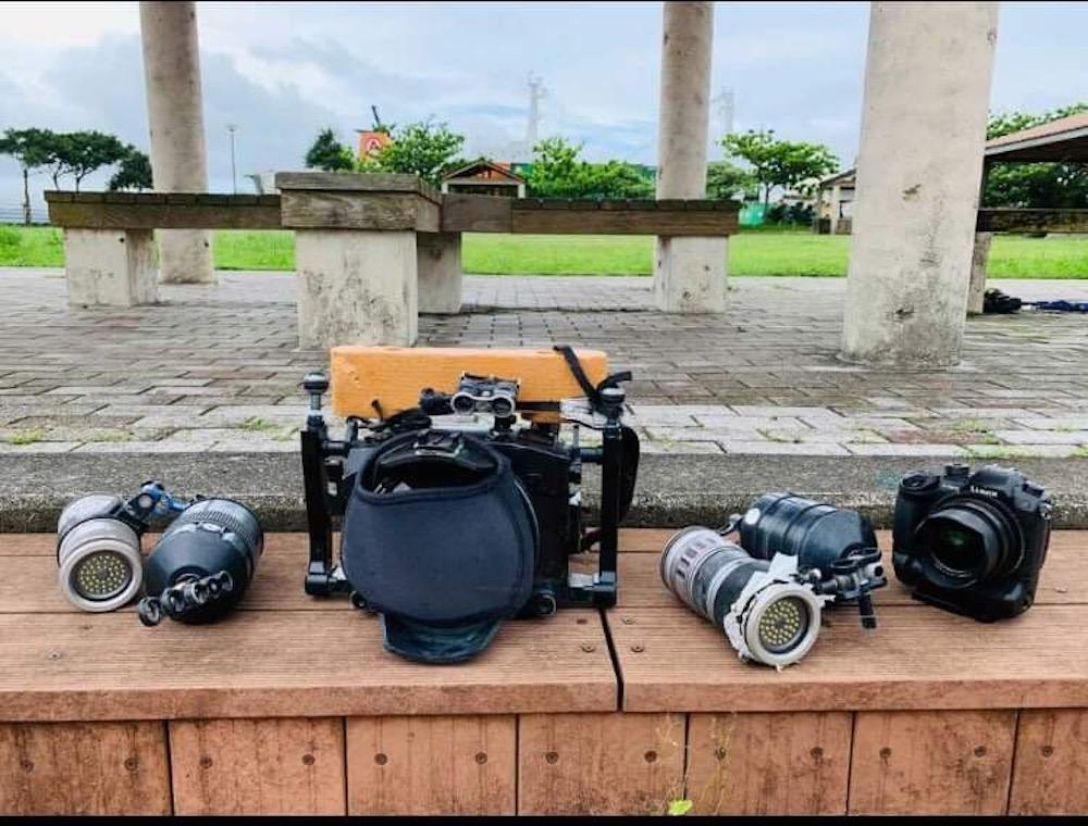 回収された撮影機材
