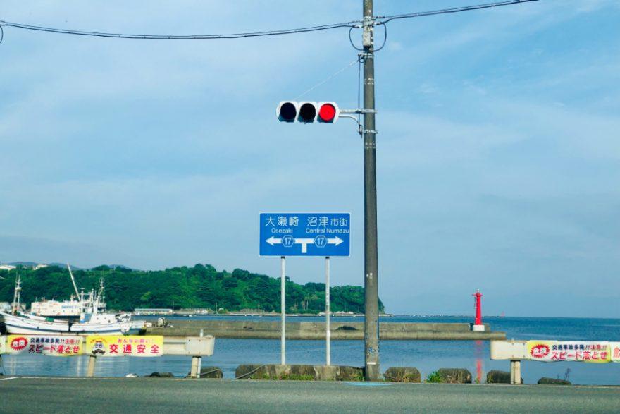 西伊豆の大瀬崎へ向かう道