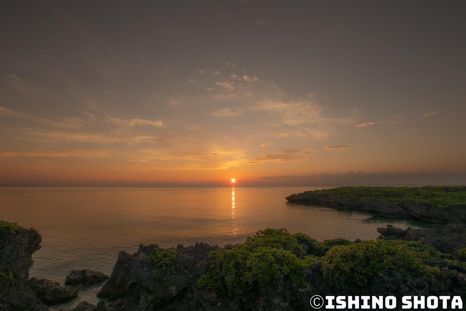 恩納村の夕日