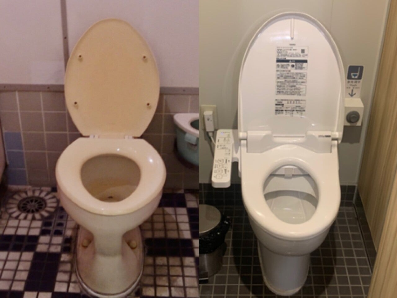 左:2代目さるびあ丸 右:3代目さるびあ丸